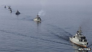 Iranian navy on exercise near Strait of Hormuz. 3 Jan 2012