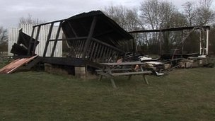 Remains of Eynsham cricket pavilion