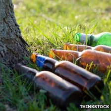 Empties in a park