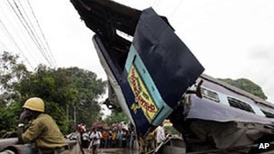 Train accident in Bengal