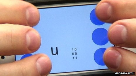 Georgia Tech&#039;s Braille texting app