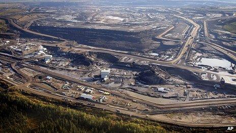 Oil sands facility in Alberta