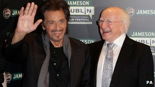 Al Pacino and Irish President Michael D Higgins