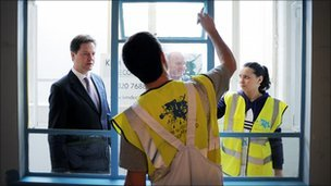 Nick Clegg meets apprentices