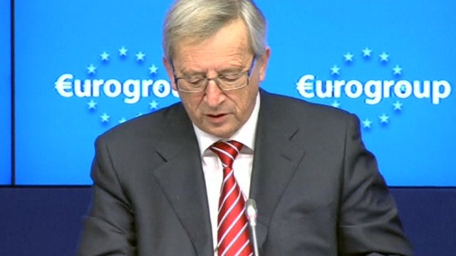 Eurogroup chief Jean-Claude Juncker
