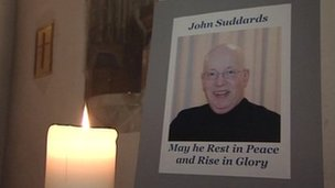 A late-night vigil was held in memory of the Reverend John Suddards at St Mary's Church in Thornbury