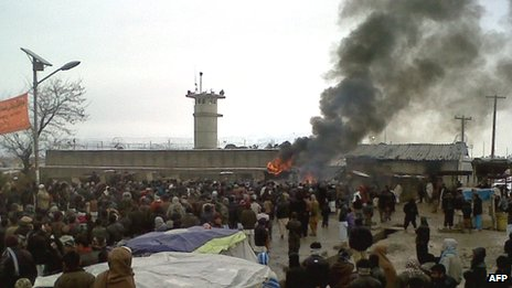 Protest at Bagram air base