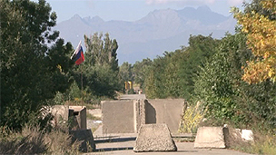 Roadblock on South Ossetia border