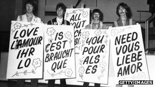 Beatles promote multi-language version of their song All You Need Is Love