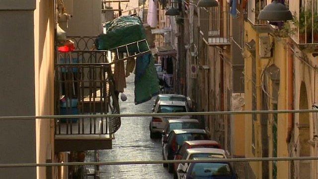 A street in Ercolano