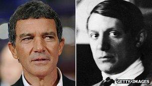 Antonio Banderas and Pablo Picasso