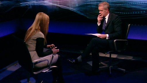 Eugenia Tymoshenko and Stephen Sackur