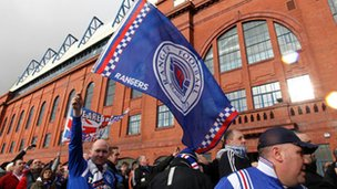 Fans at Ibrox