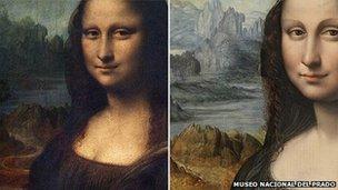 The Mona Lisa and the replica