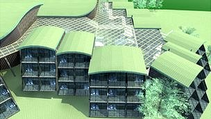 An impression of what the new hotel will look like at Runkerry
