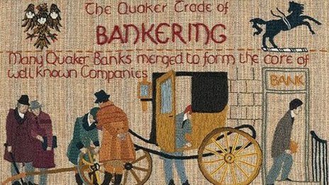 Panel from a Quaker tapestry