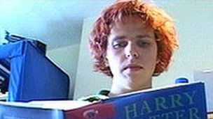 Toby Rundle and Harry Potter book