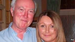 Peter Lawrence with his missing daughter Claudia. Photo: PA/North Yorkshire Police