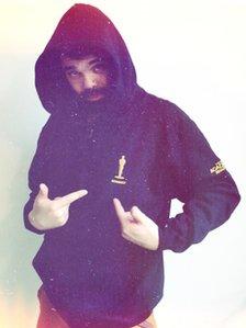 Grant in Oscars hoodie