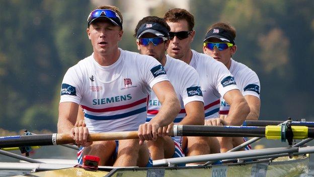 Alex Gregory, Ric Egington, Tom James and Matt Langridge