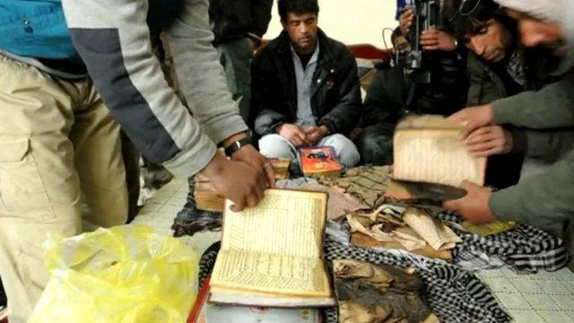 Damaged copies of the Koran
