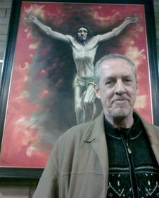 Peter Howson with Lenten picture