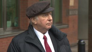 Arthur Scargill outside court