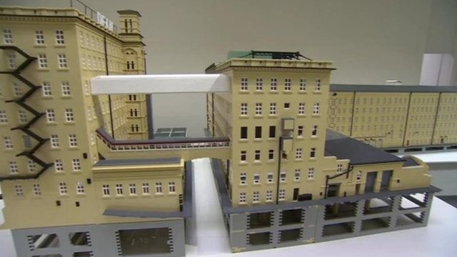 The Lego model of the Dean Clough building