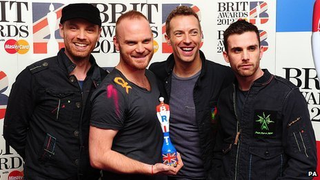 Coldplay at the Brit Awards