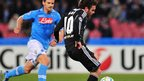 Chelsea&#039;s Spanish midfielder Juan Mata scores against Napoli 