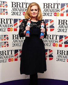 Adele at the Brits