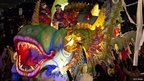 The Krewe of Proteus Parade participates in Mardi Gras in New Orleans, Louisiana 21 February 2012