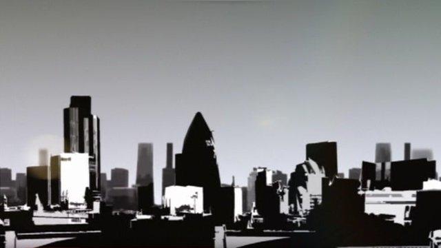 Graphic of London skyline