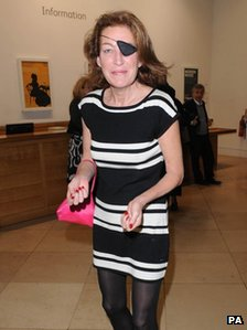 Marie Colvin at the National Portrait Gallery, London (11/03/2008)