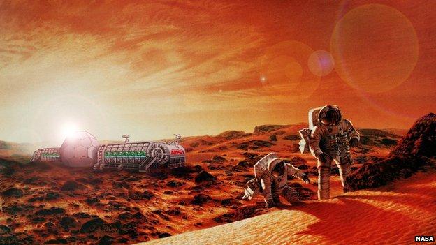 Artist impression of Mars