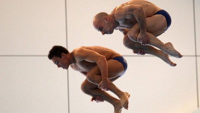 Divers Tom Daley and Pete Waterfield