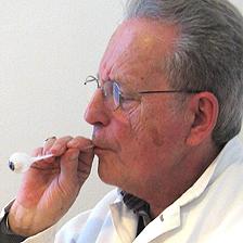 Jost Haas making a glass eye