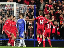 Liverpool celebrate beating Chelsea