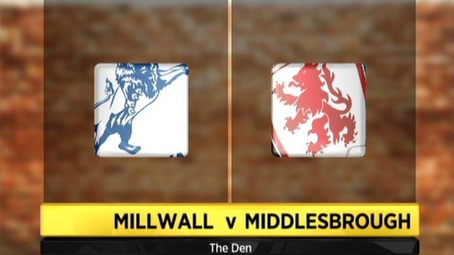 Millwall v Middlesbrough