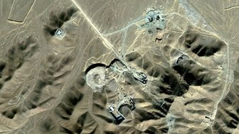 This satellite image made available to AFP on September 26, 2009 by Digitalglobe shows the suspected Iranian nuclear facility of Fordo near the holy Shiite city of Qom (DIGITALGLOBE)