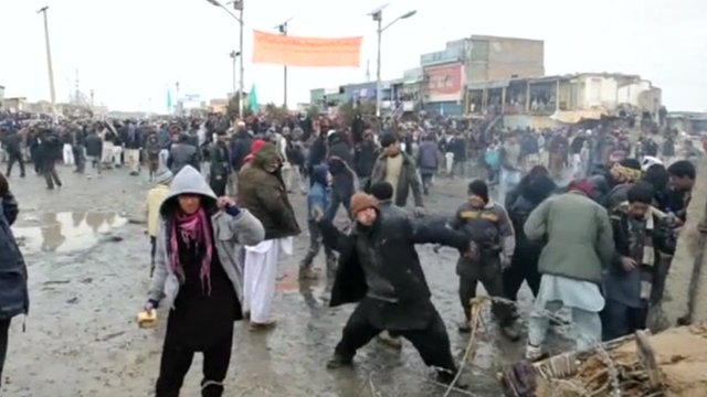 Protesters in Afghanistan
