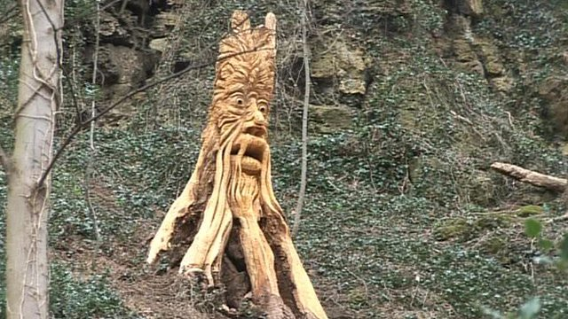 One of the tree carvings in Knaresborough