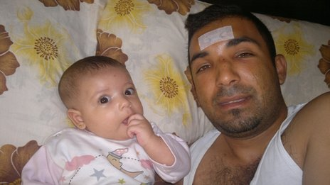 Photograph purportedly showing Rami al-Sayed with his daughter, Maryam