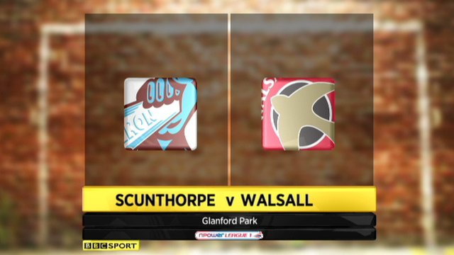 Scunthorpe 0-1 Walsall