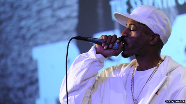 Rap artist Rakim performing in New York
