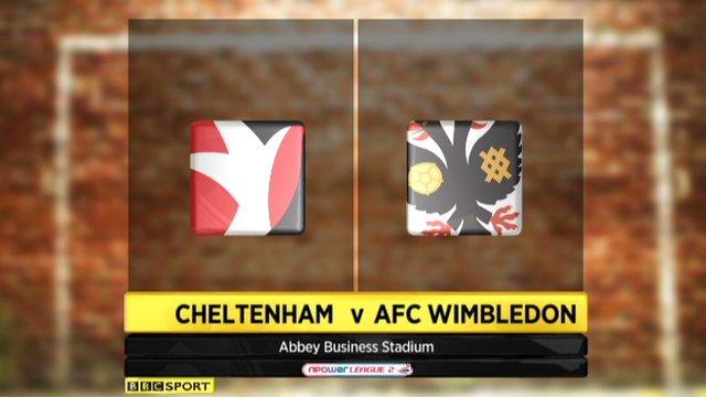 Cheltenham 0-0 AFC Wimbledon