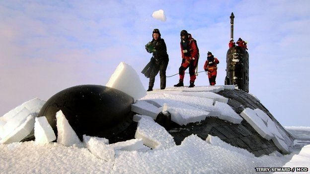 HMS Tireless in the Arctic