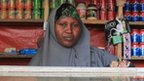 Faduma Aden Mohamud in her shop in the Hodan district of Mogadishu, the capital of Somalia, where she sells samosas