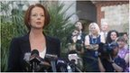 Australia's Prime Minister Julia Gillard addresses the media at the Parliament House courtyard in Adelaide on 23 February, 2012