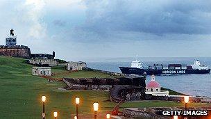 Puerto Rico's port of San Juan